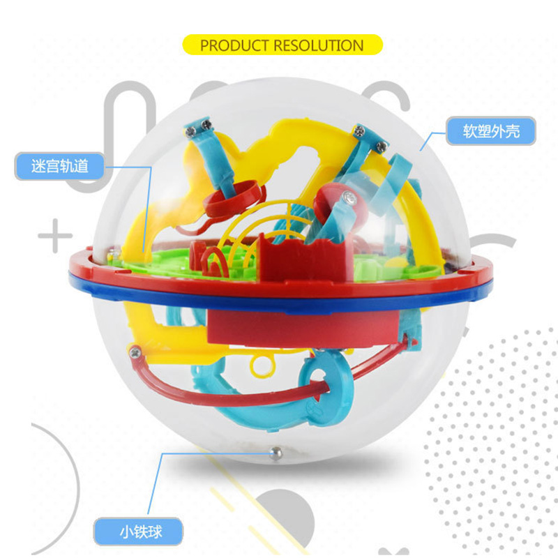100 Barrier Super Power Small Size 3D Ball Puzzle Board Game Magical Intellect Ball Intelligence Educational For Children