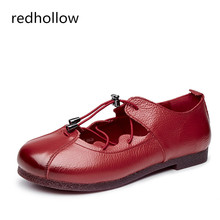 Women Flat Shoes Spring Summer Casual Lace Up Shoes Women Soft Genuine Leather Shoes Flats Round Toe Fashion Shoes Female muyang mie mie women flats 2017 fashion spring casual flat shoes woman genuine leather shoes female soft loafers women shoes