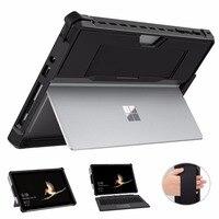 MoKo-funda protectora todo en uno para Microsoft Surface Go 2, carcasa resistente con soporte para bolígrafo, correa de mano, 10 pulgadas