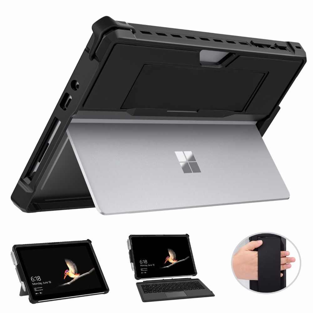 TianTa Coque pour Microsoft Surface Go 2 2020 Surface Go 2018 Surface Go Slim Folding PU Cuir Cover avec Stylus Holder pour 10 Pouces Surface Go 2 2020 Pink