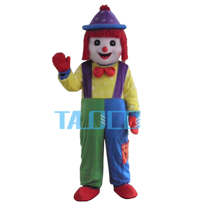 Clown Comic Mascot Costume Halloween  Party Fancy Dress Free Shipping Adult Size