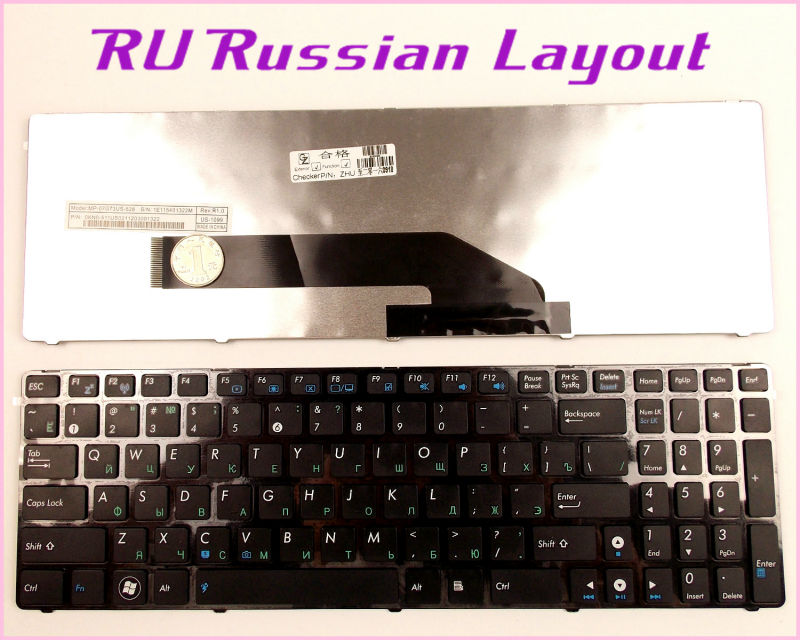 100% New Russian RU Layout Keyboard For ASUS K50AE K50X K50ID K50IE K50IO K50IL K50IP X66 X5AC LaptopNotebook
