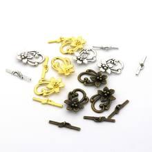 595ffaa2dbda 10 juegos Color de la mezcla flor grande de OT broche abalorios para la  fabricación de joyas pulsera collar Diy accesorios al po.