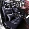 Cubierta de cuero de la pu de automóviles asientos de invierno amortiguador de asiento de coche lleno de espesor amortiguadores para bmw x5 mantener caliente fundas de asiento para el benz glk
