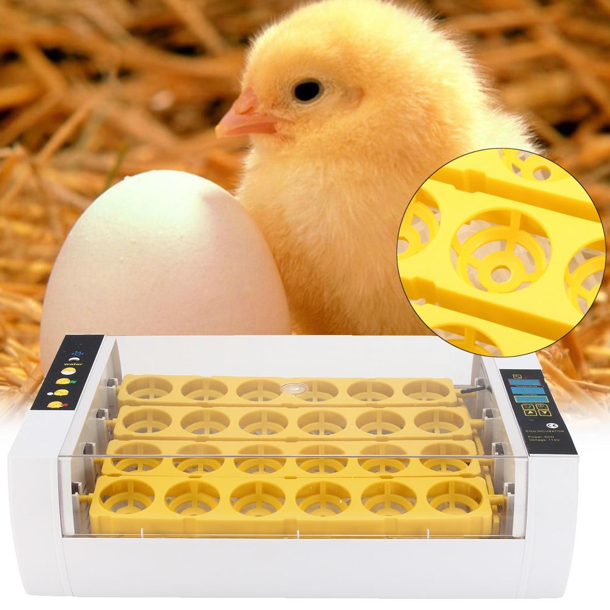 Automatic Hatcher Machine 24 Hole Incubator Chicken Duck Digital Display Smart Sensitive Poultry Hatcher Tray Brooder 110V /220V
