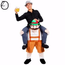 Wholesale Carry Me Ride on Bear Oktoberfest Costumes Animal Funny Dress Up Fancy Pants Novelty Mascot Costumes