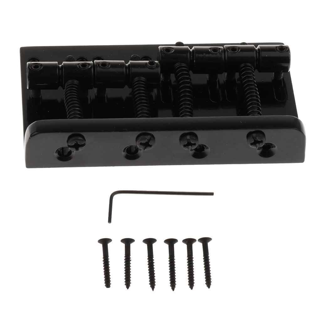 4 String Bass Hardtail Fixed Bridge for Fender Precision Jazz Bass Replacement Parts