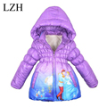 LZH Girls Jackets 2016 Winter Fashion Girl Winter Down Jackets  Baby Warm Outerwear Coat Kids Thick Hooded Coat Children Clothes