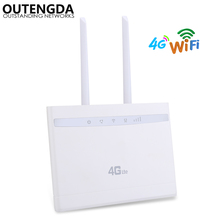 4G WiFi Router 300Mbps Wireless Wi-Fi Mobile CAT4 LTE/3G/4G CPE Router Up to 32 WiFi users with SIM Slot Multi LAN & Dual ANTs цены
