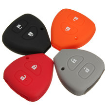 Brand NEW 2 Button Silicone Key Jacket Protector Cover Case For TOYOTA for Yaris for Corolla for Auris