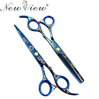 5 5 6 Inch YingHua Hair Scissors Cutting Thinning Professional Tesoura Hairdressing Salon Products Hair Styling