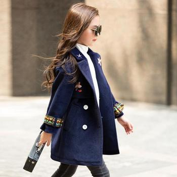 Black Friday New Christmas Children Girls Coat Kids Princess Wool Coat Chidren Winter Spring Autumn Clothes Manteau Fille 12 Ans