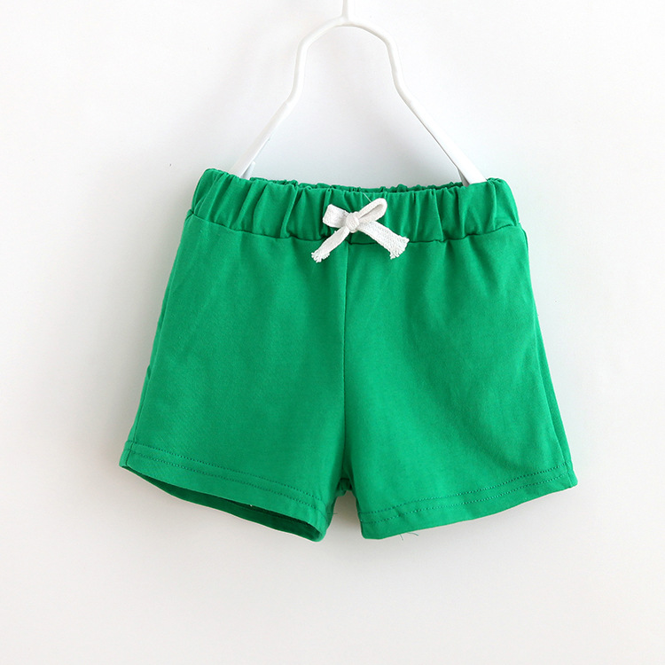 b7f099359027 Kids Beach Shorts 2018 New Summer Baby Candy Color Cotton Pants sports  Children Baby Clothes 2-7Y Boys Girls Shorts