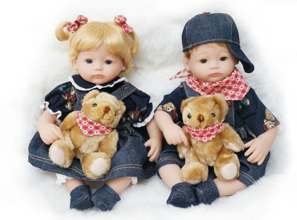Panenky Baby pro děti Dárky 40CM Vinylové panenky Reborn Jeans Gits nebo Toy Cosette