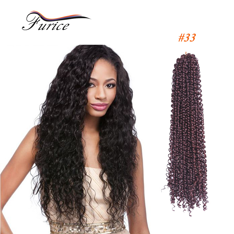 Low Temperature Curly Crochet Hair18in Freetress Braid Pre Loop Crochet Braid Sintetico Curly ...