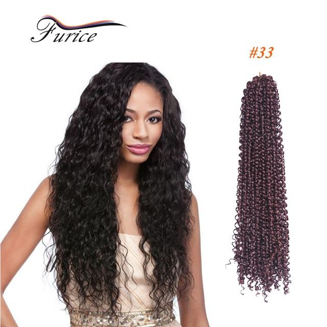 Low Temperature Curly Crochet Hair18in Freetress Braid Pre Loop