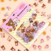 240PCS/lot Kawaii Rilakkuma His Circus Friends Series Sticker Pack Student Decoration Label Stationery Gift недорого