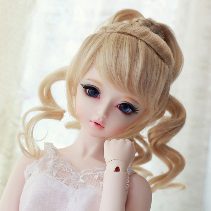 LIMPOPO 2018 hot BJD SD wig tweezers ponytail high quality fiber handmade products doll accessories doll hair work beautiful все цены
