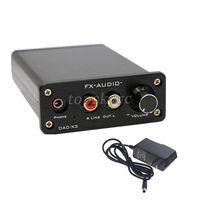 FX DAC X3 Fiber Coaxial USB Decoder 24BIT 192Khz USB DAC Headphone Decoder Power Adapter