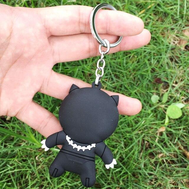 Ремешок на шею с брелком Черная пантера резиновый 2