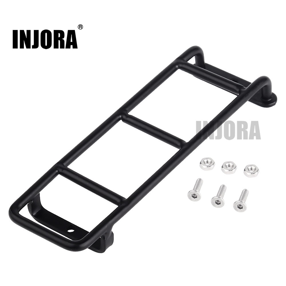 INJORA 1PCS Straight/Curved Metal Black Ladder Stairs For 1:10 RC Rock Crawler Traxxas TRX4 Axial SCX10 90046 D90