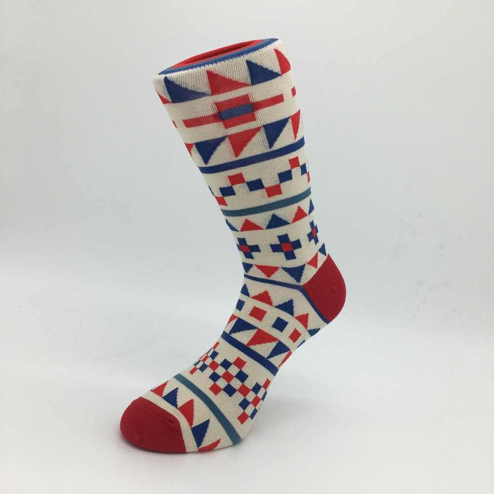 69fc9f384ac ... 5 pair lot men Colour crew cotton happy socks European fashion style  Men s Casual socks ...