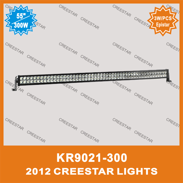 55inch 300w led light bar use on atv/ suv/ project vehicle/ off road / 4x4 car kr9021-300 52inch led