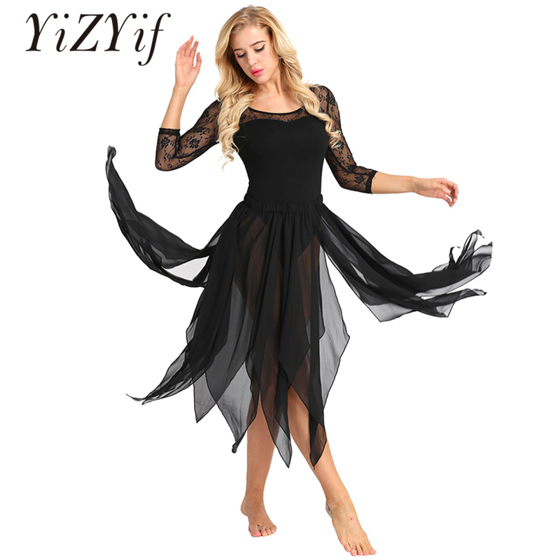 YiZYiF Women Belly Dance Costumes Side Split Asymmetric Belly Dance 13 Panel Chiffon Skirt Adult Performance Costume Dance Skirt
