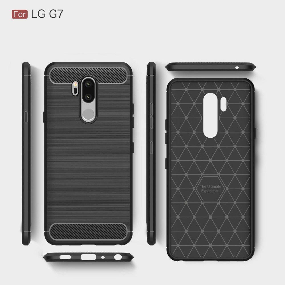 brand new 6da33 68870 US $3.99  For LG G7 Thinq Case Soft Silicon Case TPU Cover Carbon Fiber  Case Explorer Phone Fundas Back Cover-in Half-wrapped Cases from Cellphones  & ...
