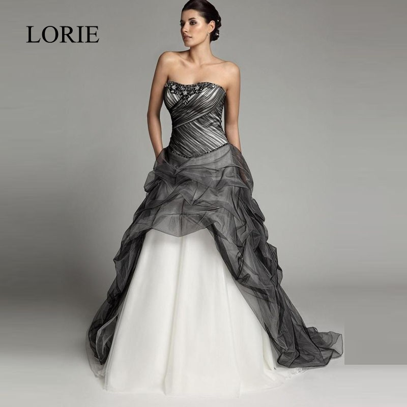 Discount Black And White Gothic Wedding Dresses Real: Online Get Cheap Gothic Wedding Dresses -Aliexpress.com
