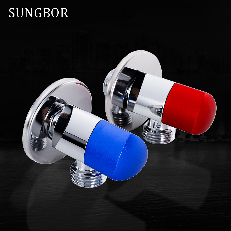 2pcs Angle Valves SUS304 stainless steel brushed finish filling valve Bathroom Accessories Angle Valve for Toilet Sink JF-870L