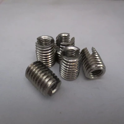 20pcs M2-M16 303 Stainless Steel Self tapping Thread Insert Self Tapping Screw Bushing Slotted Type Thread Repair Inset