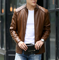 New Fashion Leather Jacket Men's Slim Fit suede Leather Coat autumn Winter Clothes for Men Outerwear PY8823