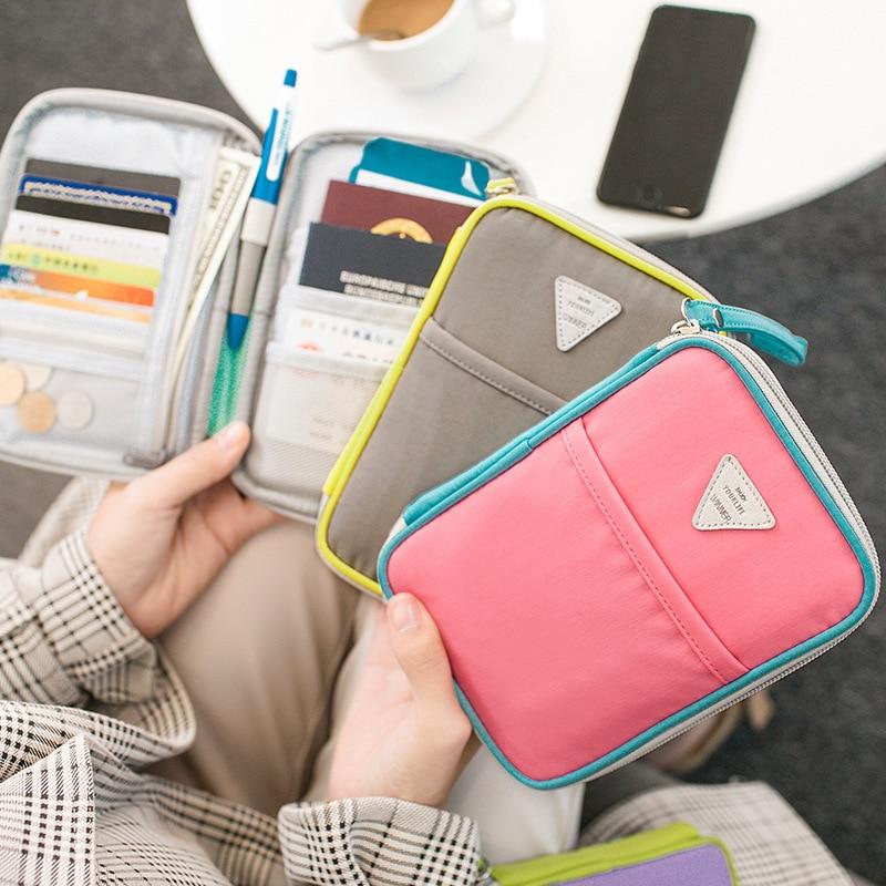 Women Men's Passport Bag Waterproof File Pouch Credit Card Storage Case Multi-Card Family Travel Essentials Accessories Supplies