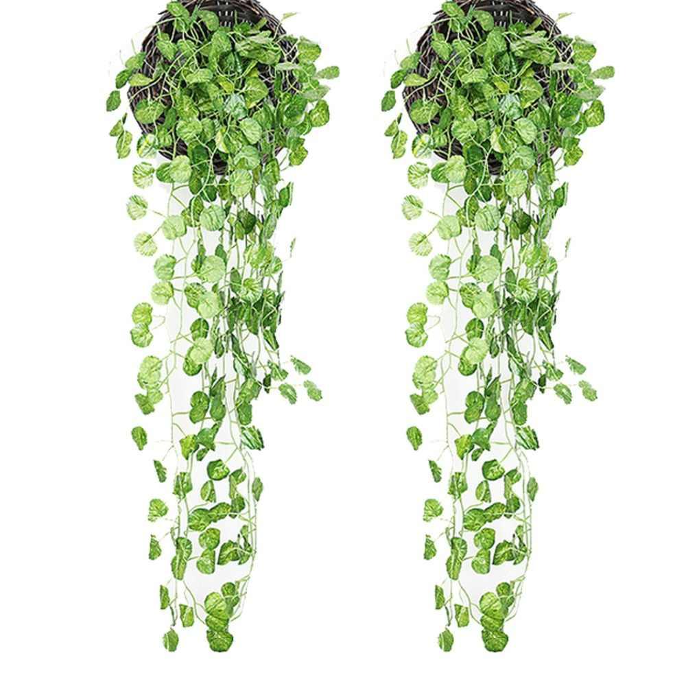 2 шт. искусственные Висячие растения листья искусственный Плющ лоза зелень