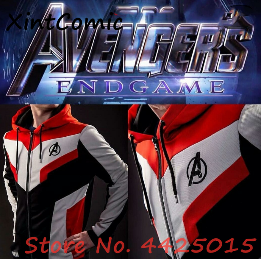 Avengers Endgame Quantum Realm Jacket Sweatshirt Advanced Tech Hoodie Cosplay Costumes Double layer fabric Original edition
