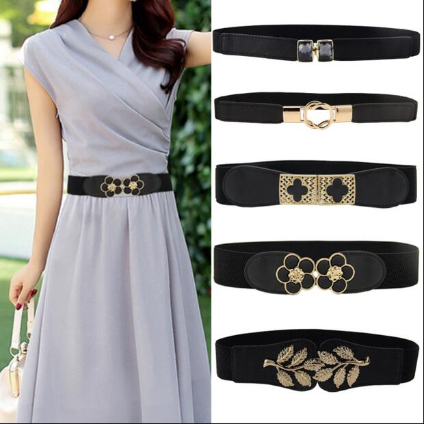 For buckle thin   belt   women's small elastic strap all-match one-piece dress cummerbund