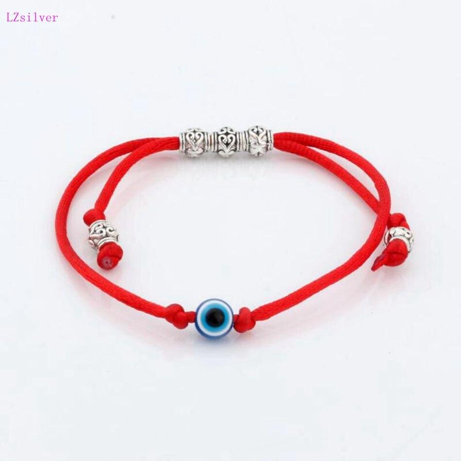 10pc Kabbalah Red String Bracelet Evil Eye Bead blue Protection Health Luck Happiness Bracelets S11L05 bead