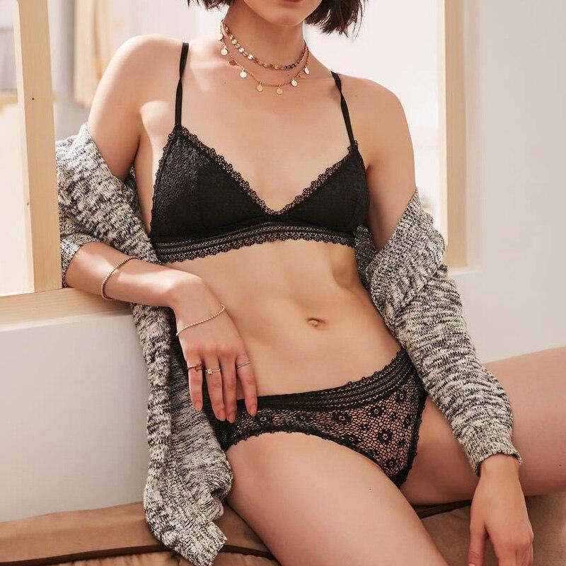 2018 NEW France brand lace   bra   &   brief     sets   push up   bra     set   for women underwear   set   brassiere transparent lingerie