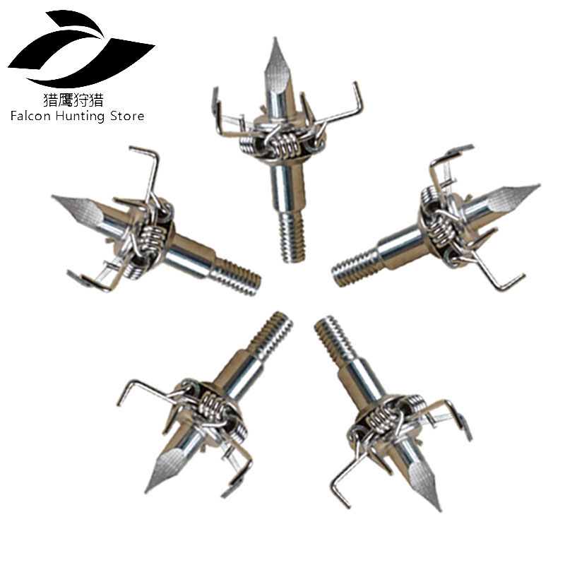 Hunting Archery Accessory 12pcs Judo Bird Hunting Broadheads 100 Grains 4mm Screws Stainless Steel Arrow Point Arrowhead