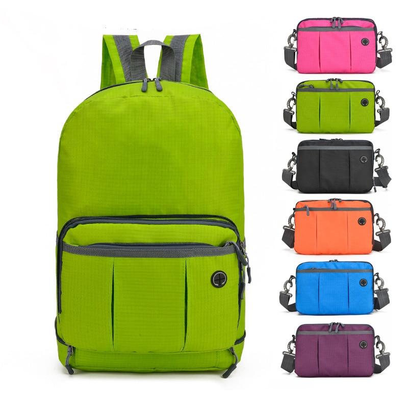 Unisex Waterproof Nylon Outdoor Sport Backpack Lightweight Foldable Travel Cycling Hiking Climbing Trekking Bag Mochila Rucksack
