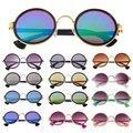 Moda Brasil Óculos De Sol Retro Rodada Do Vintage Estilo Clássico do Metal Frames Eyewear óculos de sol oculos de sol feminino