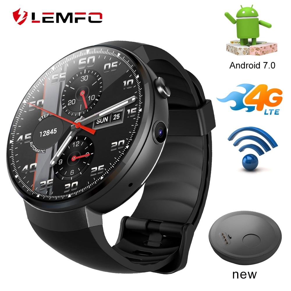 LEMFO LEM7 4G que reloj inteligente Android 7,1 reloj inteligente con cámara Sim herramienta de traducción Fitness Tracker Smartwatch teléfono hombres las mujeres-in Relojes inteligentes from Productos electrónicos    1
