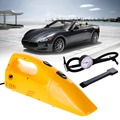 Portable 2in1 12V Dry Car Vacuum Cleaner with Air Compressor Tire Inflator PumpFor Cars Free Shipping