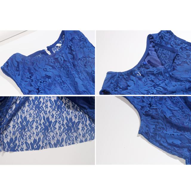 Royal Blue Lace Maxi Dress