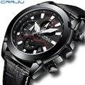 Crrju военные спортивные часы для мужчин Топ люксовый бренд кожа АРМИЯ кварцевые часы для мужчин креативный хронограф Relogio Masculino