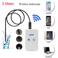 5M Wireless Universal Wifi Endoscope Camera 6led Car Inspection Wi-fi Borescope Snake Tube Waterproof for iphone Android PC