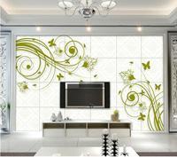 3D papel pintado/papel fotográfico pared de encargo/de estilo Europeo patrón decorativo vides/TV/sofá/Cama/KTV/Hotel/salón/Niños