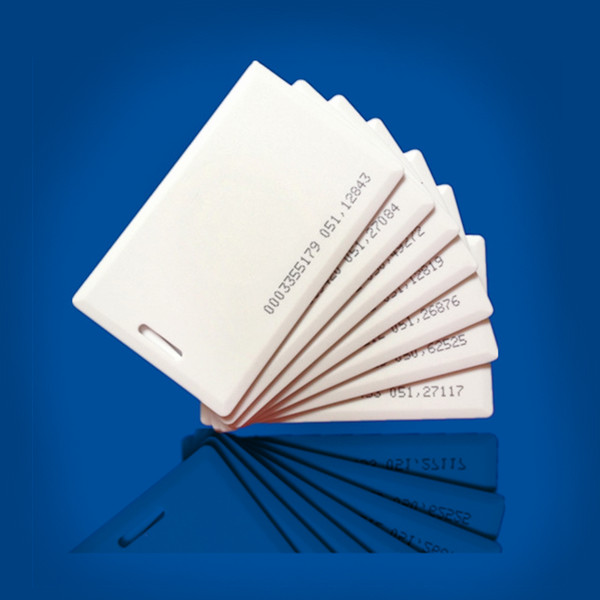 125khz em4100 door entry access blank white proximity rfid clamshell thick card thickness 1 9mm pack of 10 100pcs 125KHz RFID/EM 1.8mm Thickness Card with EM4100 chip Clamshell Card for door access control system