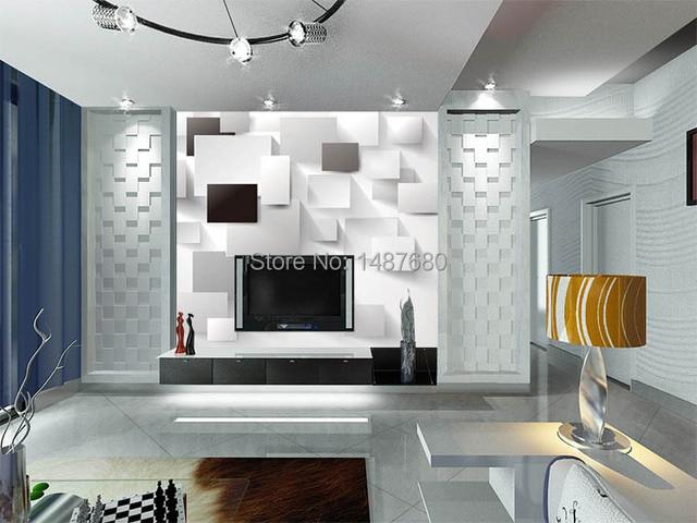 Kleine Minimalistische Slaapkamer : Beibehang 3d behang europese minimalistische slaapkamer woonkamer tv